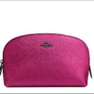 NEW! Coach Metallic Mauve Cosmetic Case